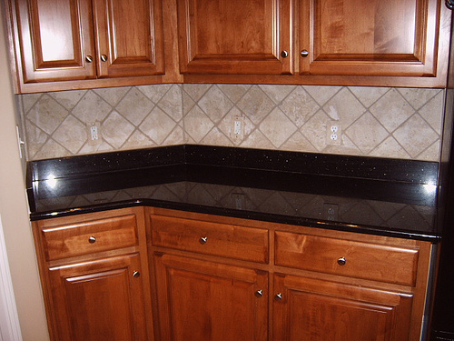 Kitchen tiling and flooring with joel braun construction for Kitchen cabinets 07726